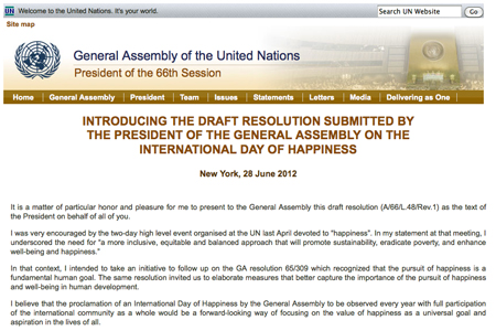 UN President Introduces IDoH Resolution