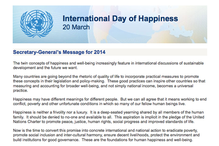UN Secretary-General's 2014 IDoH Message