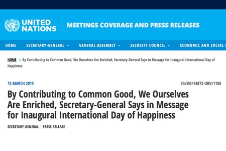 UN Secretary-General Press Release