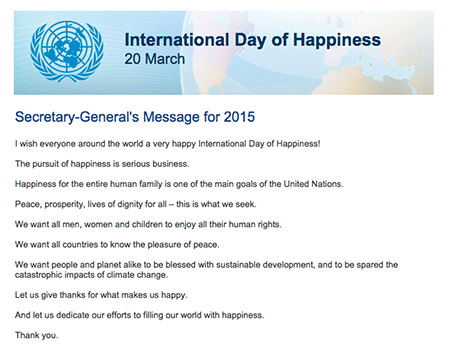 UN Secretary-General's 2015 IDoH Message