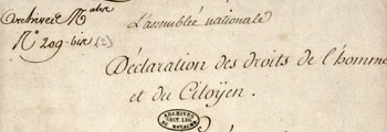 August 26, 1789 France Adopts Declaration